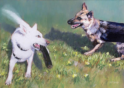 Painting - Togo And Friend by Christopher Reid