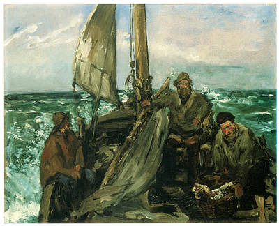 Manet Painting - Toilers Of The Sea by Edouard Manet