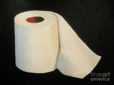 Toilet Paper Print by Rachel Dunkin