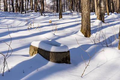 Landscape Photos Chad Dutson - Toilet Remains Winter 1 by John Brueske