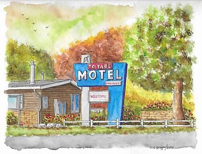 Toiyabe Motel In Walker, California Original by Carlos G Groppa
