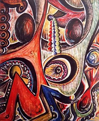 Origins Of Life Painting - Token Of Love by Mbonu Emerem
