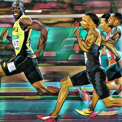 Usain Bolt Digital Art - Usain Bolt Tokyo Artwork  by Brooks