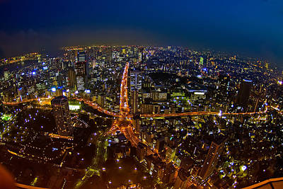 Art Print featuring the photograph Tokyo At Night by Dan Wells