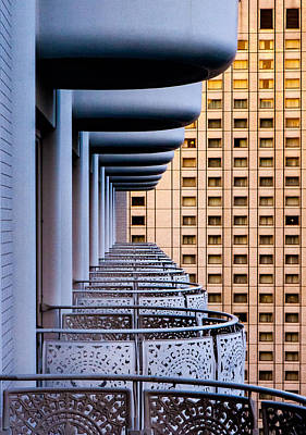 Balconies Photograph - Tokyo Balconies by Jay Heiser