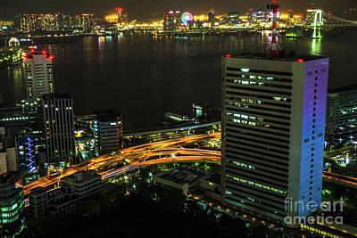Photograph - Tokyo Bay Area Skyline by Benny Marty