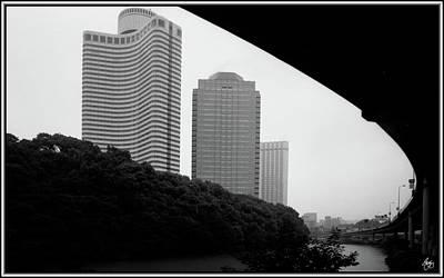 Photograph - Tokyo Bridge Skyline by Wayne King