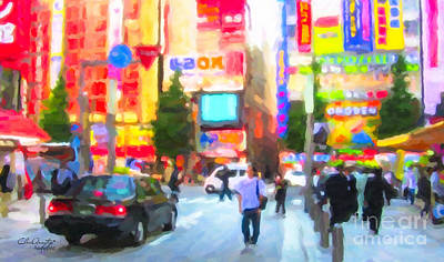 Painting - Tokyo by Chris Armytage