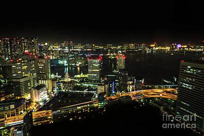 Photograph - Tokyo Cityscape And Odaiba Skyline by Benny Marty