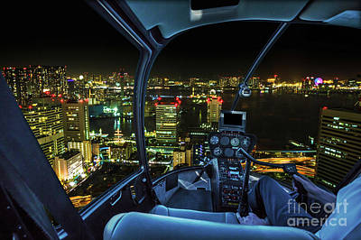 Photograph - Tokyo Cityscape Helicopter by Benny Marty