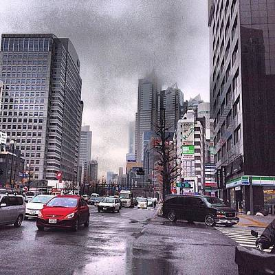 Architecture Digital Art - Tokyo Cloudy by Moto Moto