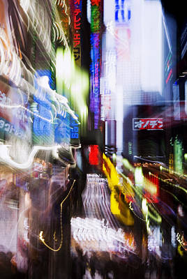 Asian Cultural Art Photograph - Tokyo Color Blurs by Bill Brennan - Printscapes