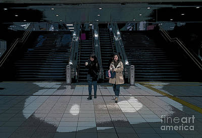 Photograph - Tokyo Metro, Japan Poster by Perry Rodriguez