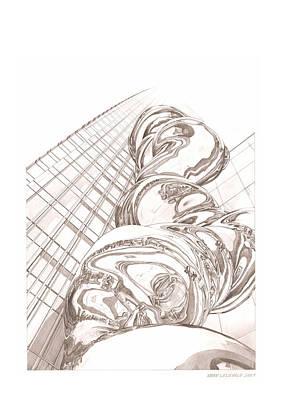 Tokyo Midtown Tower Art Print by Mark Lelieveld