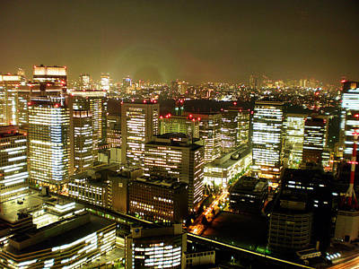 Tokyo Skyline Art Print by Nancy Ingersoll