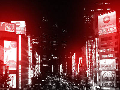Downtown Photograph - Tokyo Street by Naxart Studio