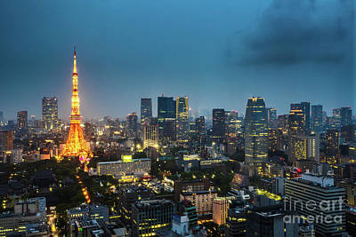 Photograph - Tokyo Tower And Skyline by Benny Marty