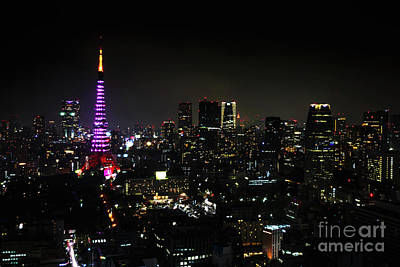 Photograph - Tokyo Tower Cityscape by Benny Marty