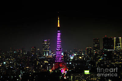 Photograph - Tokyo Tower Night by Benny Marty