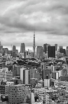 Photograph - Tokyo Tower Study 1 by Robert Meyers-Lussier