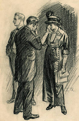 Told Her The Bill Was Lost, She Cried Art Print by John Sloan