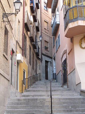 Toledo Alley Steps Art Print