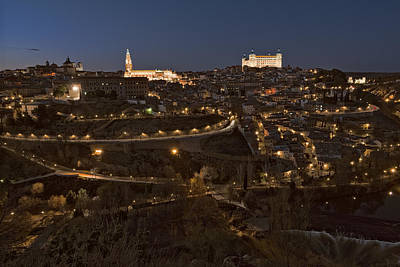 Spanish Landscape Photograph - Toledo By Night by Joan Carroll