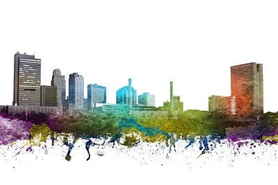 Towns Digital Art - Toledo Cityscape 01 by Aged Pixel
