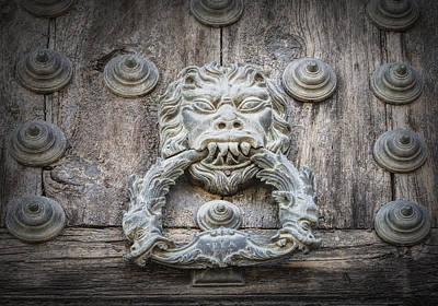 Door Photograph - Toledo Door Knocker by Joan Carroll