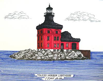 Drawing - Toledo Harbor Lighthouse by Frederic Kohli