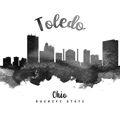 Ohio Painting - Toledo Ohio Skyline 18 by Aged Pixel