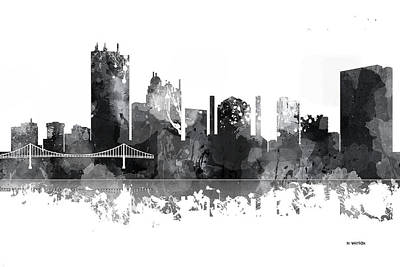 Toledo Ohio Skyline Art Print