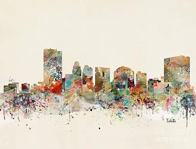 Painting - Toledo Skyline by Bleu Bri