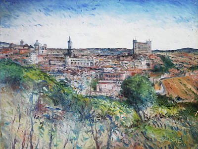 Painting - Toledo Spain 2016 by Enver Larney