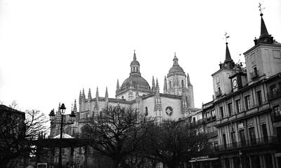 Photograph - Toledo Spain Black And White by Robert Moss