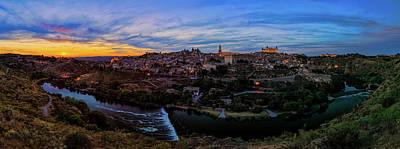 Photograph - Toledo Spain Sunset Panorama 02 by Josh Bryant