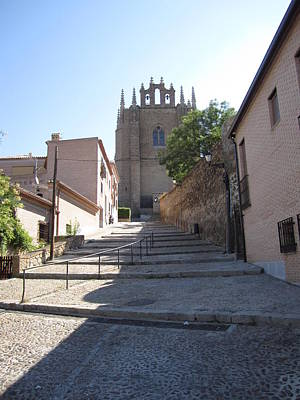 Photograph - Toledo Steps To Cathedral by John Shiron