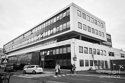 Toll Husid Directorate Of Customs Tollstjori Building Reykjavik Iceland Art Print by Joe Fox