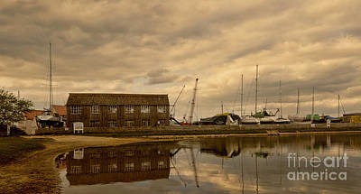 Shed Digital Art - Tollesbury Harbour Boat Shed by Nigel Bangert