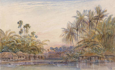 Drawing - Tollygunge, Calcutta by Edward Lear