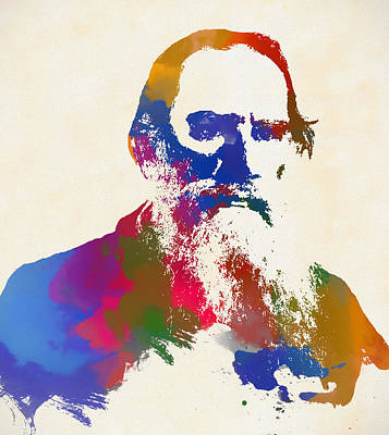 Painting - Tolstoy by Dan Sproul