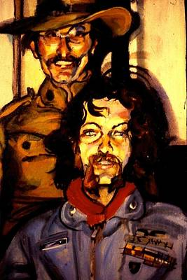 Painting - Tom And Doug by Les Leffingwell