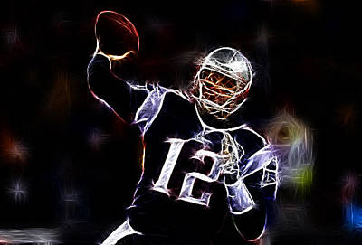 Tom Brady - New England Patriots Print by Paul Ward