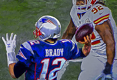 Painting - Tom Brady 2016 by Rick Mosher