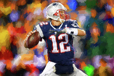 Photograph - Tom Brady Art Painting by Joann Vitali