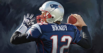 Nfl Painting - Tom Brady Artwork by Sheraz A