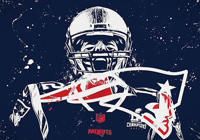 Painting - Tom Brady Intense by Dan Sproul
