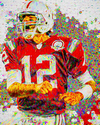Photograph - Tom Brady New England Patriots Football Nfl Painting Digitally by David Haskett