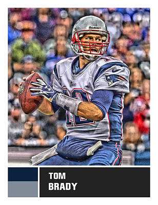 Mixed Media - Tom Brady New England Patriots by Joe Hamilton