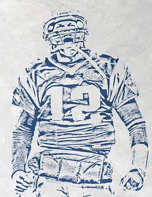 New England Mixed Media - Tom Brady New England Patriots Pixel Art 1 by Joe Hamilton